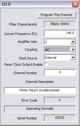Set Channel Settings